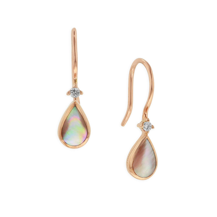 Kabana Pink Mother of Pearl Teardrop Earrings
