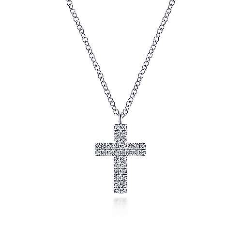 Gabriel & Co Diamond Cross Pendant