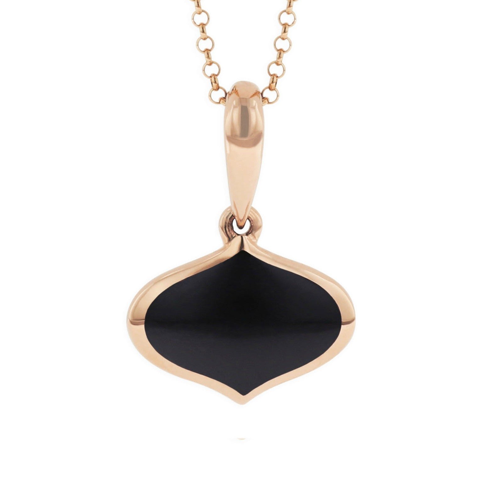 Kabana Onyx Pendant Necklace in Rose Gold