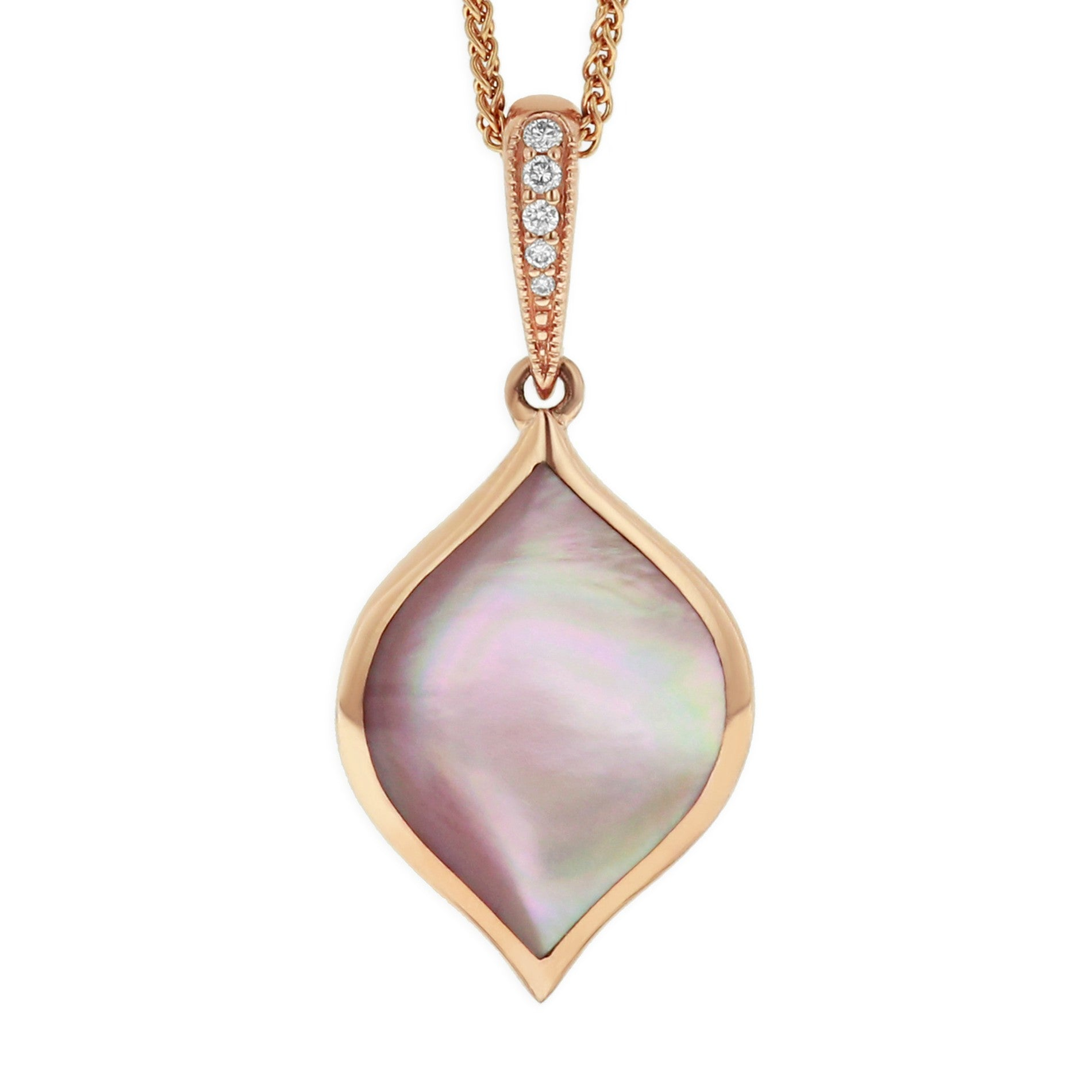 Kabana Marquise Pink Mother of Pearl Pendant