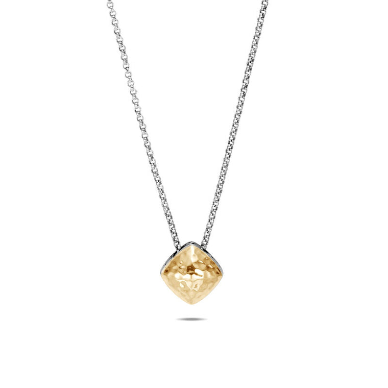 John Hardy Classic Chain Sugarloaf Pendant Necklace with Yellow Gold