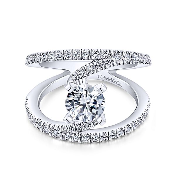 Gabriel & Co 'Nova' Split Shank Wide Engagement Ring