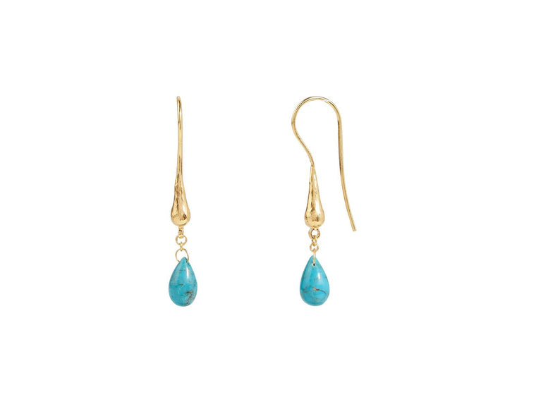 Gurhan Dew Drop Earrings with Turquoise Briolettes