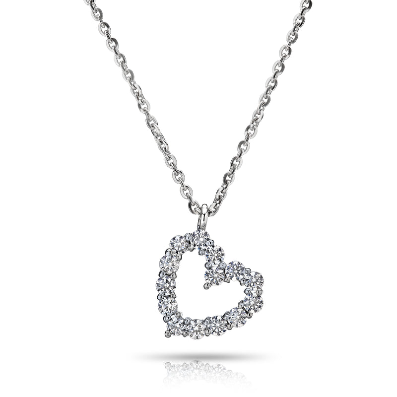 BLM Signature Diamond Heart Pendant