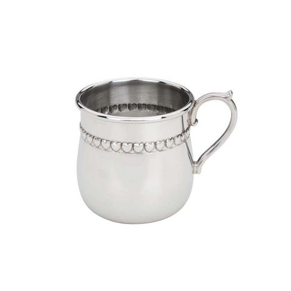 Reed & Barton Pewter Hearts Baby Cup