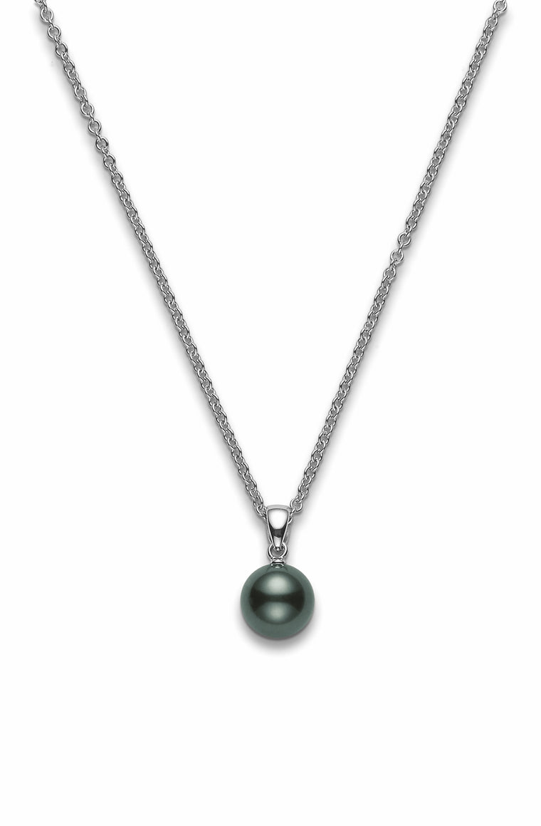 Mikimoto Single Black South Sea Pearl Necklace