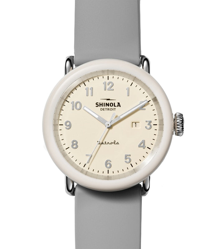 Shinola 'The Pine Knob' Detrola 43mm Watch with Cream Dial