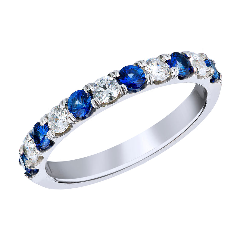 BLM Signature Diamond and Blue Sapphire Ring