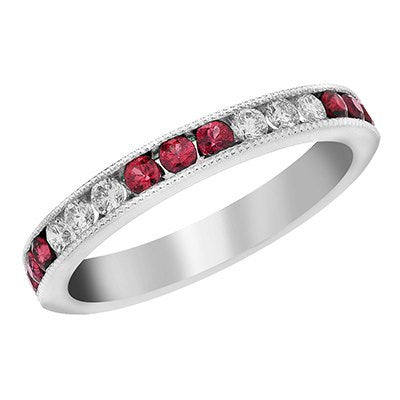 BLM Signature Diamond and Ruby Ring