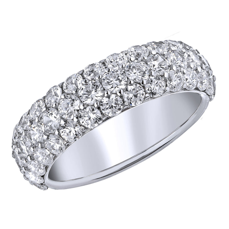 BLM Signature Three Row Pave Ring