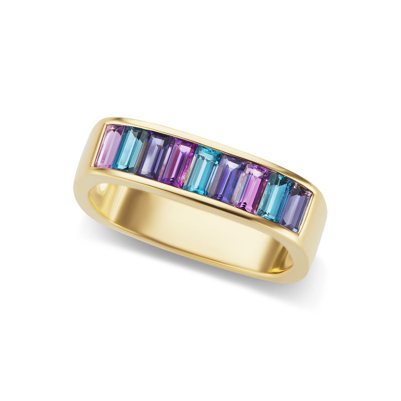 Jane Taylor Baguette Square Stacking Ring
