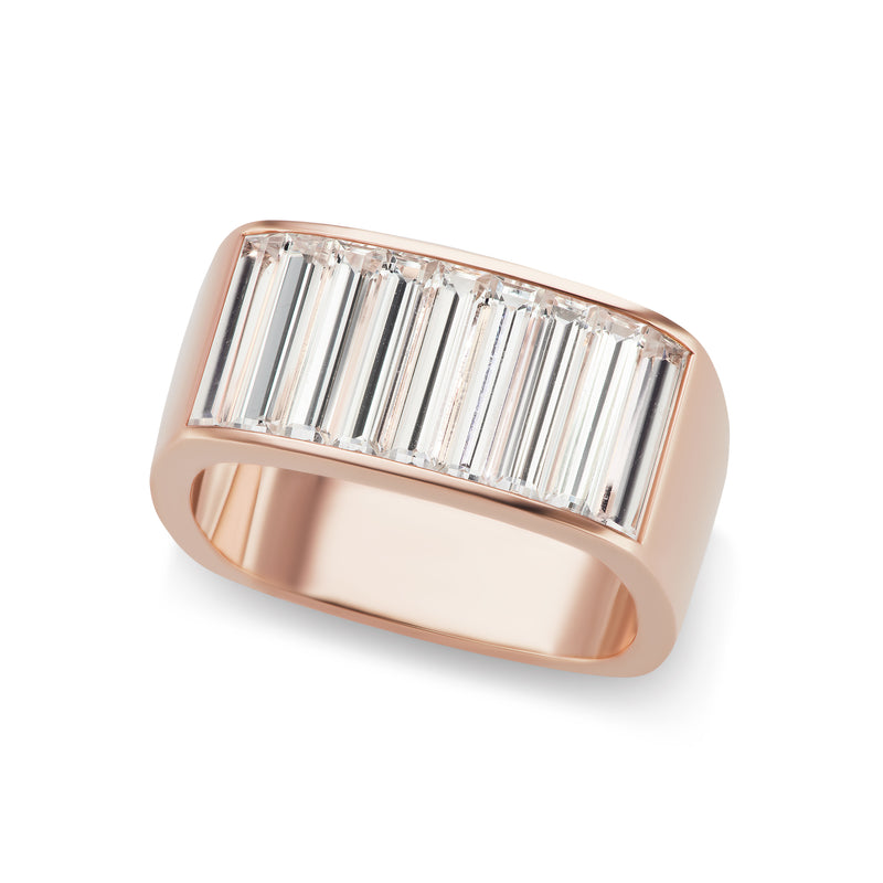 Jane Taylor Large Baguette Square Stacking Ring
