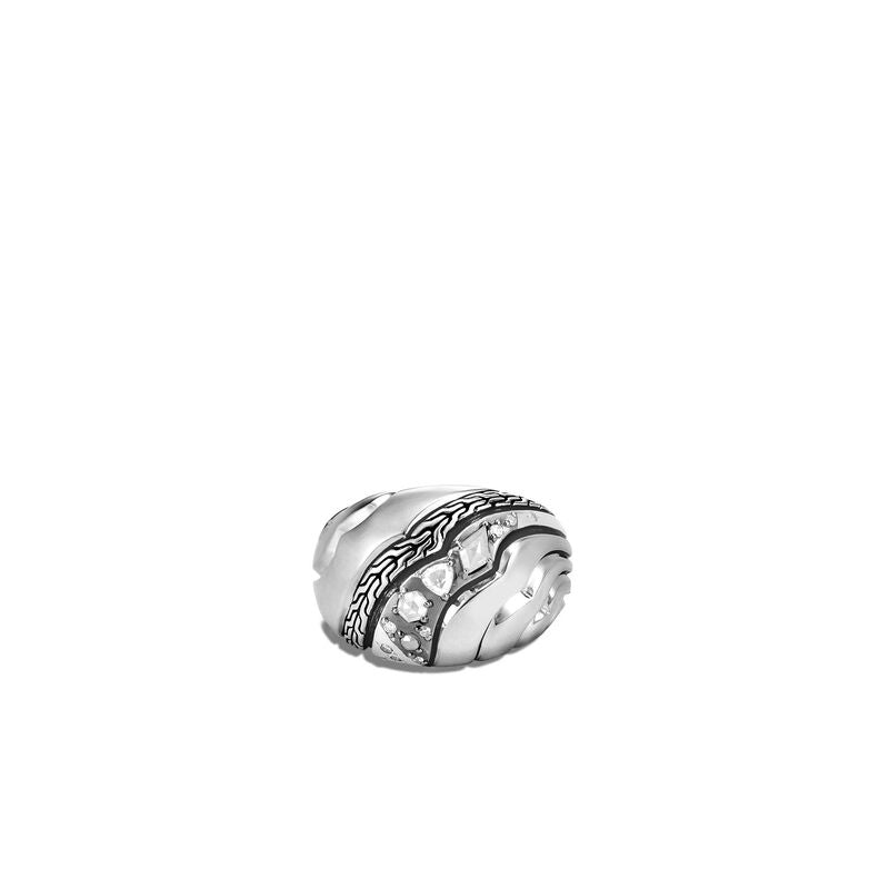 John Hardy Lahar Dome Ring with Diamonds
