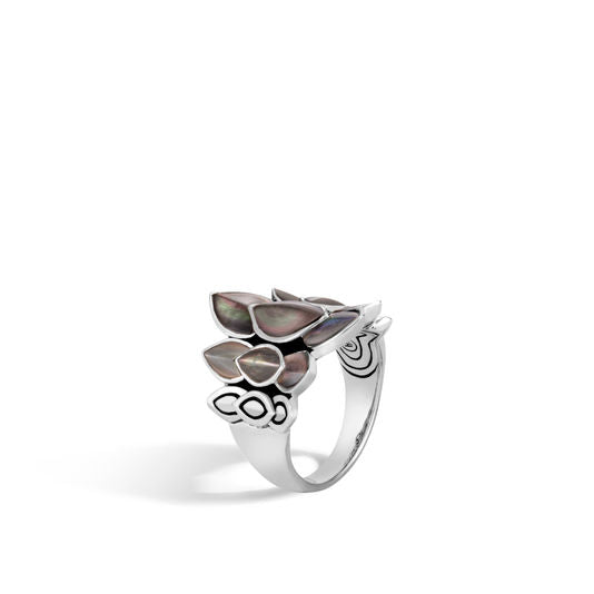 John Hardy Naga Saddle Ring with Grey Mother of Pearl