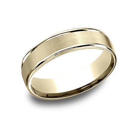 Benchmark 6mm Satin Center Wedding Band