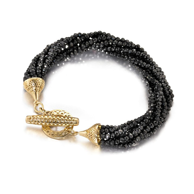 Ray Griffiths Black Spinel Multi Strand Bracelet