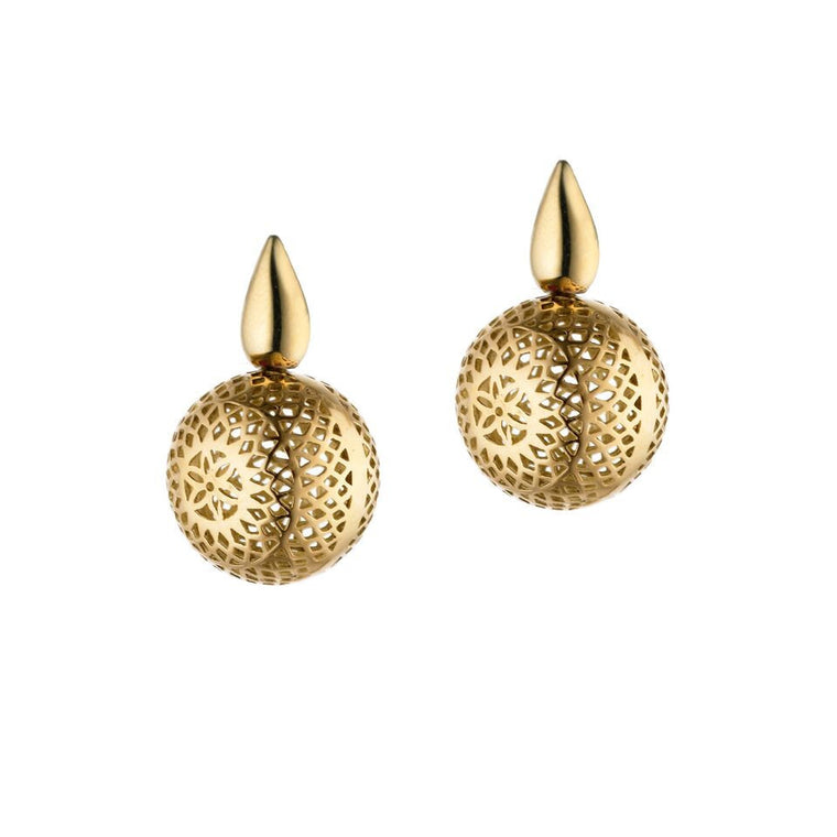 Ray Griffiths Crownwork Ball Earrings on Post