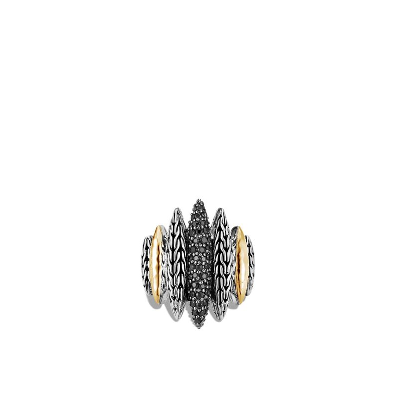John Hardy Classic Chain Spear Ring with Yellow Gold