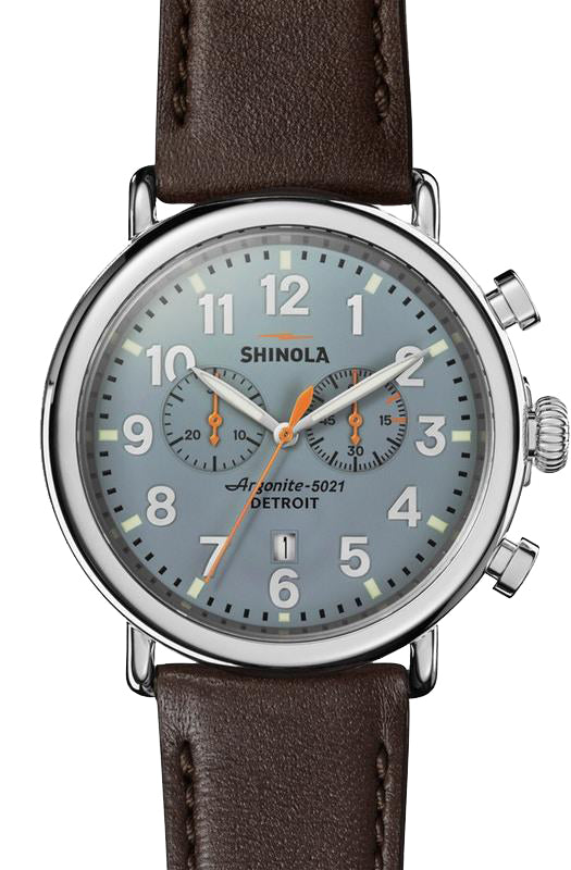 Shinola 'The Runwell' 47mm Chronograph with Slate Blue Dial
