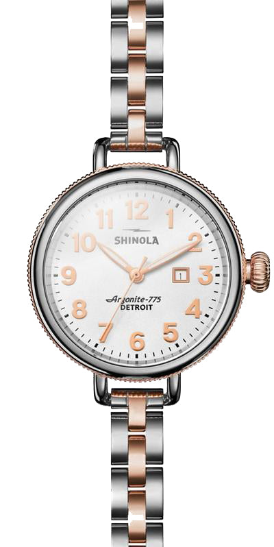 Shinola 'The Birdy' 34mm Watch with White Dial