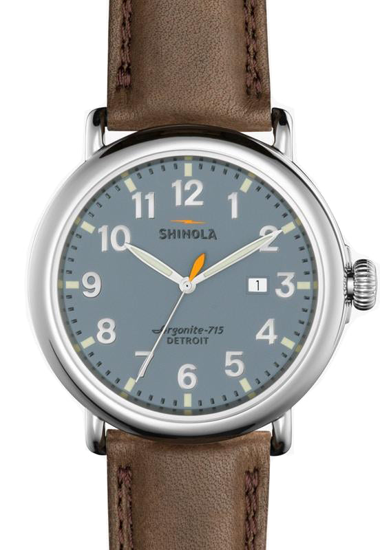 Shinola 'The Runwell' 47mm Watch with Slate Blue Dial