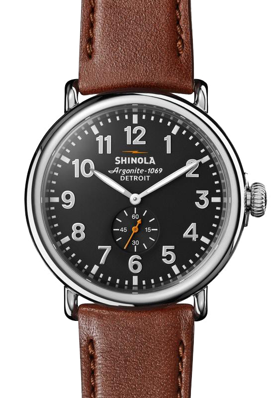 Shinola 'The Runwell' 47mm Watch with Black Dial