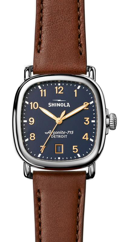 Shinola 'The Guardian' 36mm Watch with Midnight Blue Dial
