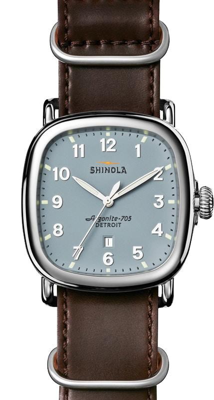 Shinola 'The Guardian' 41.5 mm Watch with Blue Dial
