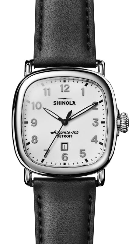 Shinola 'The Guardian' 41.5 mm Watch with White Dial