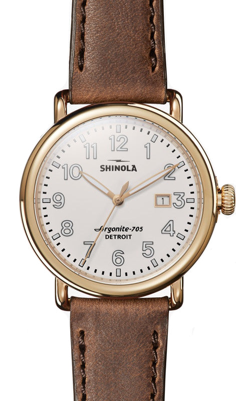 Shinola Runwell 41mm Watch with Ivory Dial