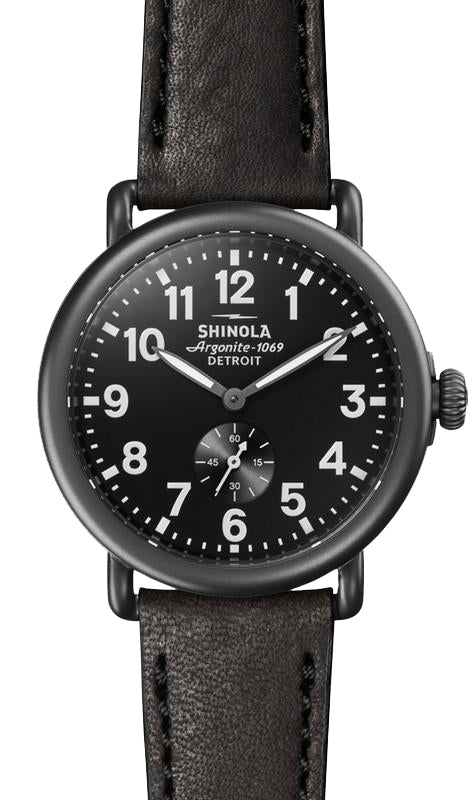 Shinola 'The Runwell' 41mm Watch with a Black Dial