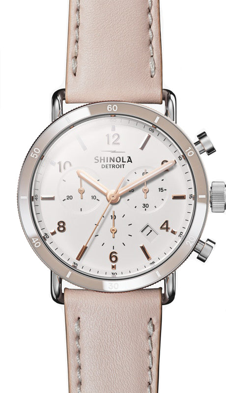 Shinola 'Canfield Sport' 40mm Ladies Watch with White Dial