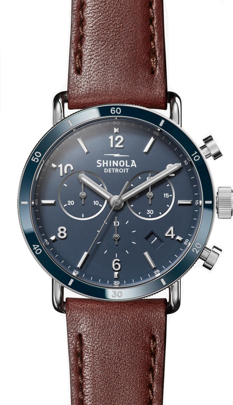 Shinola Canfield Sport 40mm Watch with Midnight Blue Dial