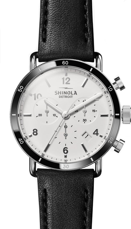 Shinola Canfield Sport 40mm Watch with White Dial