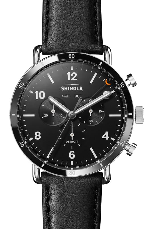 Shinola 'The Canfield Sport' Watch with Black Dial