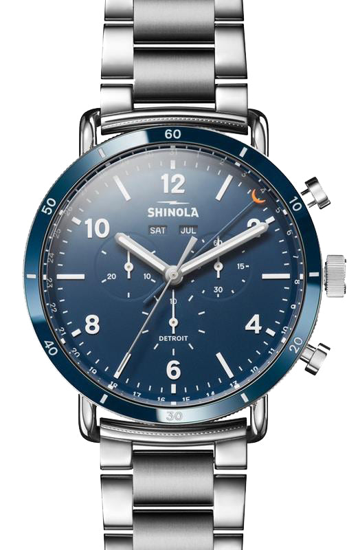 Shinola 'The Canfield Sport' Watch with Midnight Blue Dial