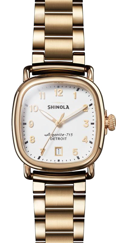 Shinola 'The Guardian' 36mm Watch with Matte White Dial