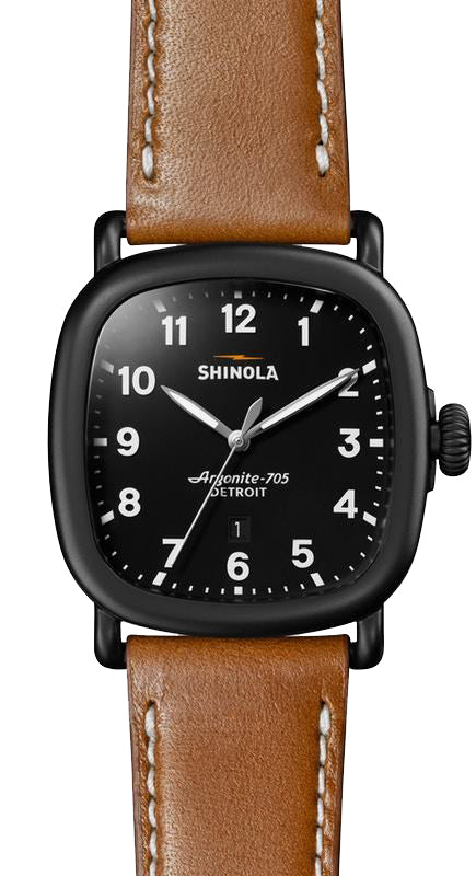 Shinola 'The Guardian' 41.5mm Watch with Black Dial