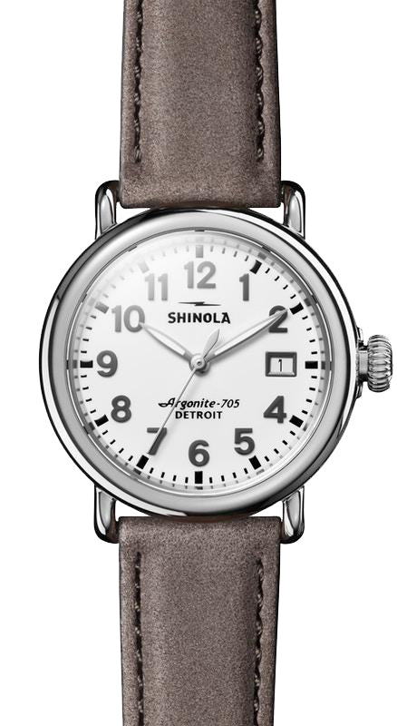 Shinola 'The Runwell' 36mm Watch with a White Dial