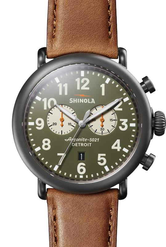 Shinola 'The Runwell' Chronograph Watch with Green Dial