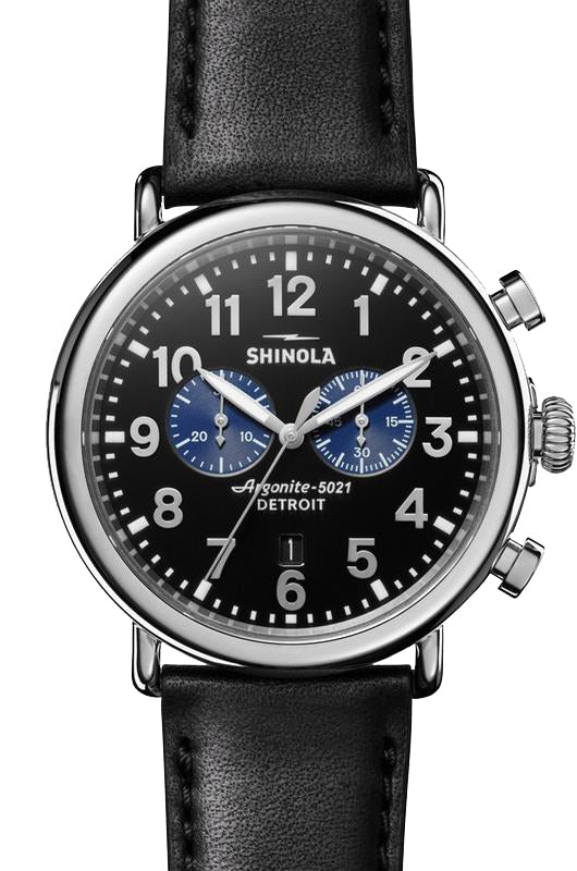 Shinola 'The Runwell' Chronograph Watch with Black Dial