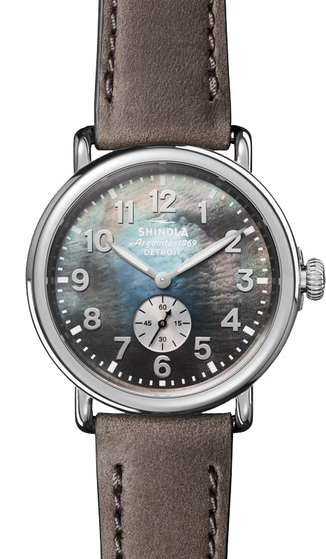 Shinola 'The Runwell' 41mm Watch with Grey Mother of Pearl Dial