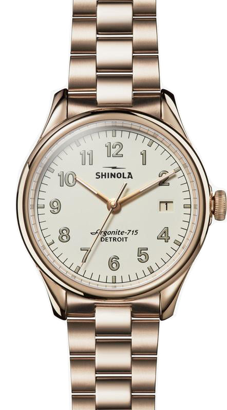 Shinola 'The Vinton' 38mm Watch with Ivory Dial