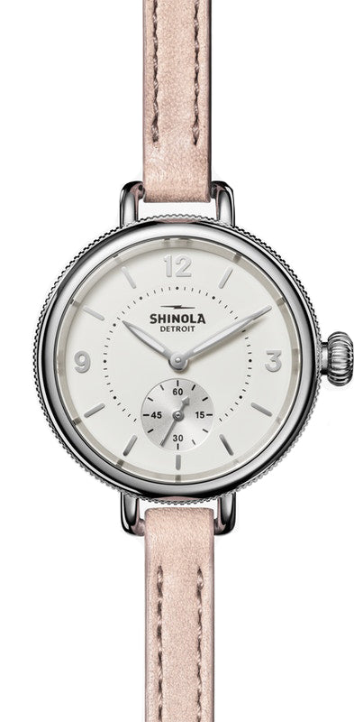 Shinola 'The Birdy' 34mm Watch with Cream Dial