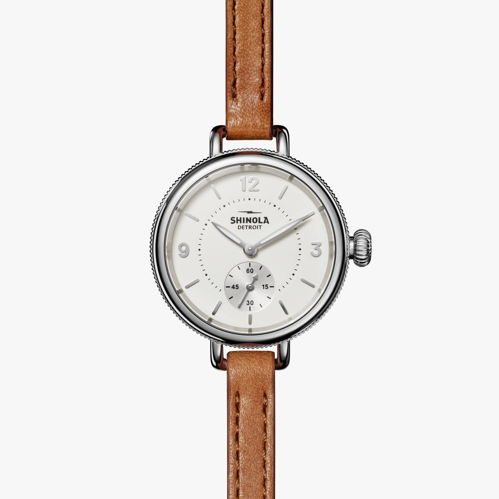Shinola 'The Birdy' 34mm Watch with Ivory Dial