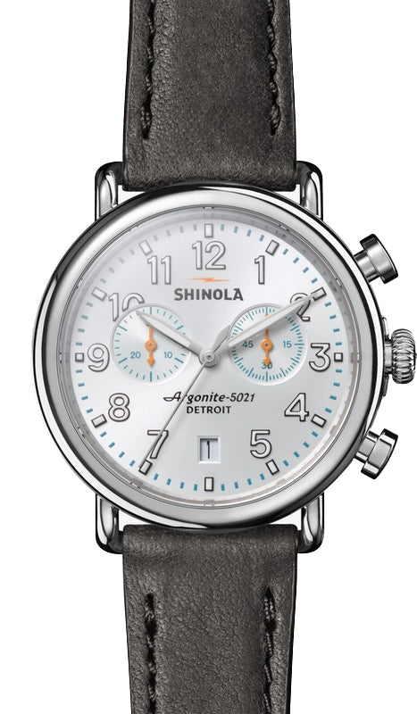 Shinola Runwell Chrono 41mm Watch with Silver Dial