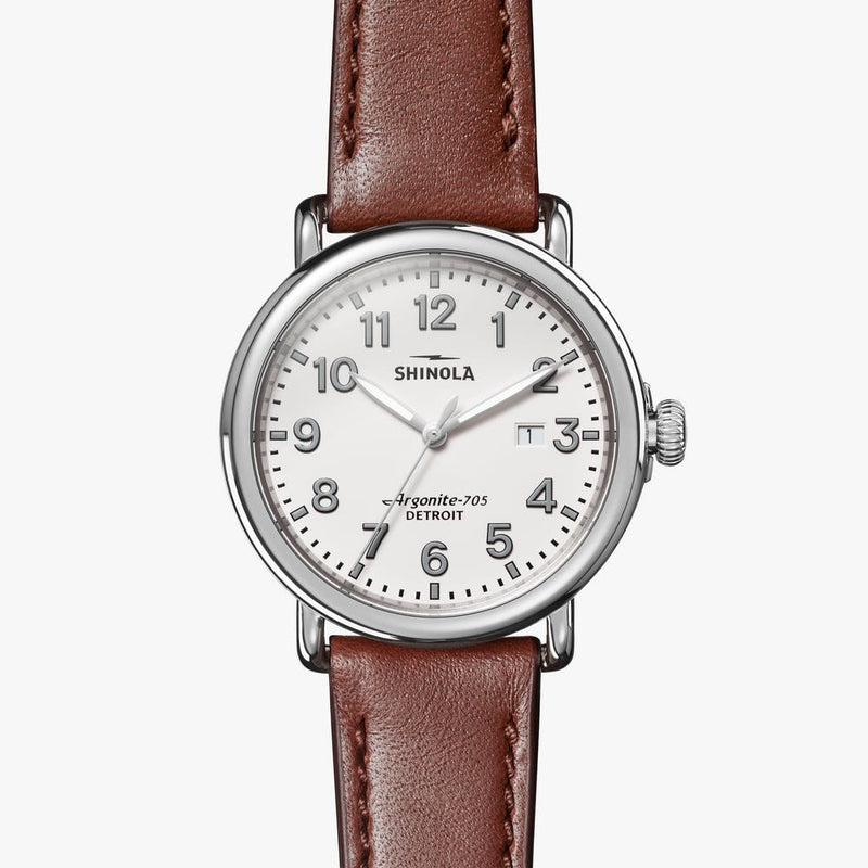 Shinola Runwell 41mm Watch with Alabaster Dial