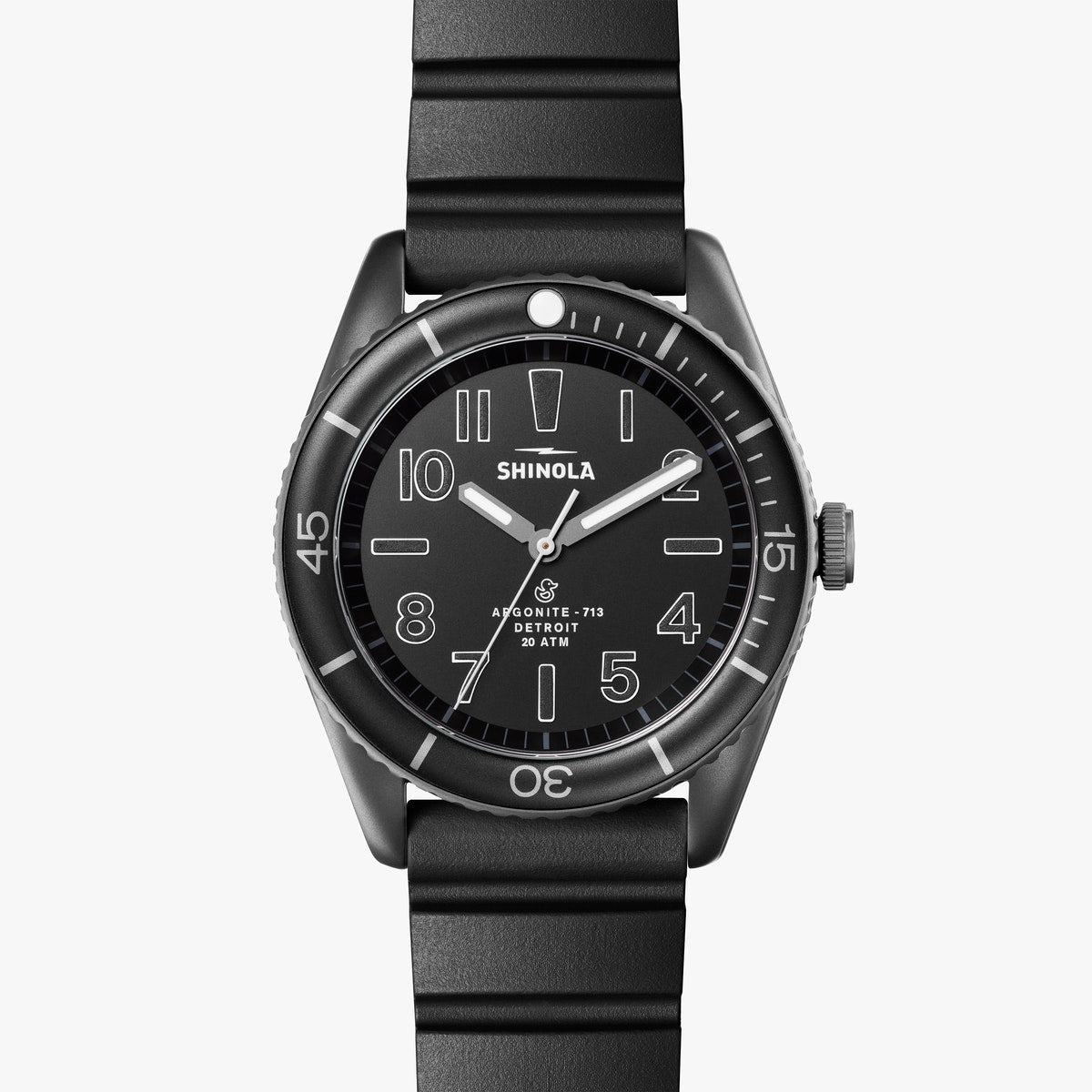 Shinola Duck Watch with a Black Dial