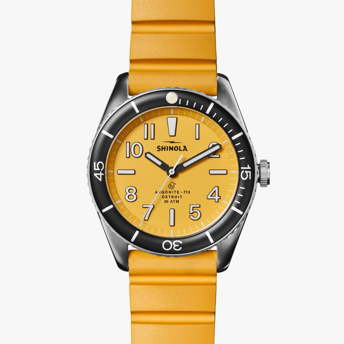Shinola 'The Duck' 42mm Watch in Canary Yellow