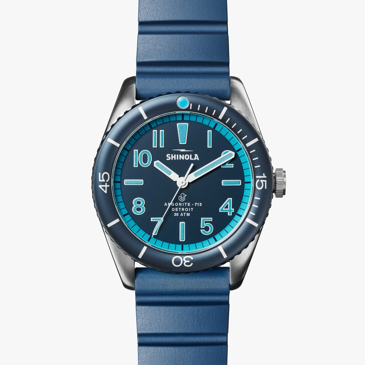 Shinola 'The Duck' 42mm Watch in Bay Blue